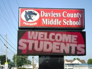 DCMS Welcome Sign