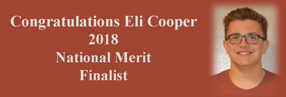 Eli Cooper - 2018 National Merit Finalist
