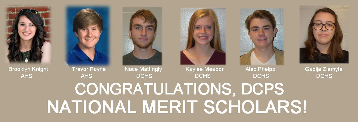 DCPS congratulates National Merit Scholars