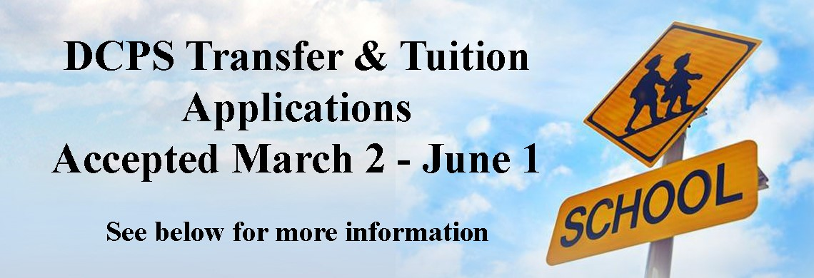 Transfer-Tuition Applications accepted March 2 - June 1