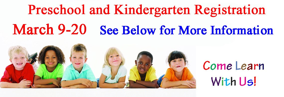 DCPS Preschool and Kindergarten Registration - March 9-20