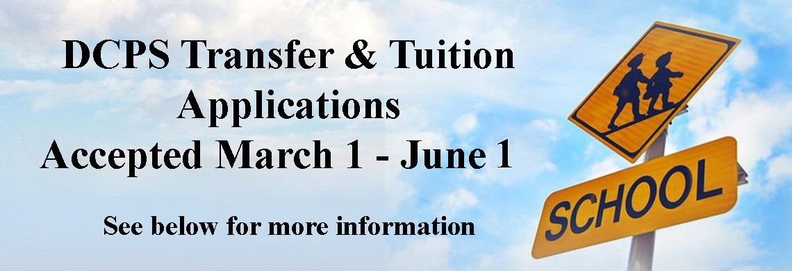 DCPS Transfer & Tuition Applications accepted March 1-June 1