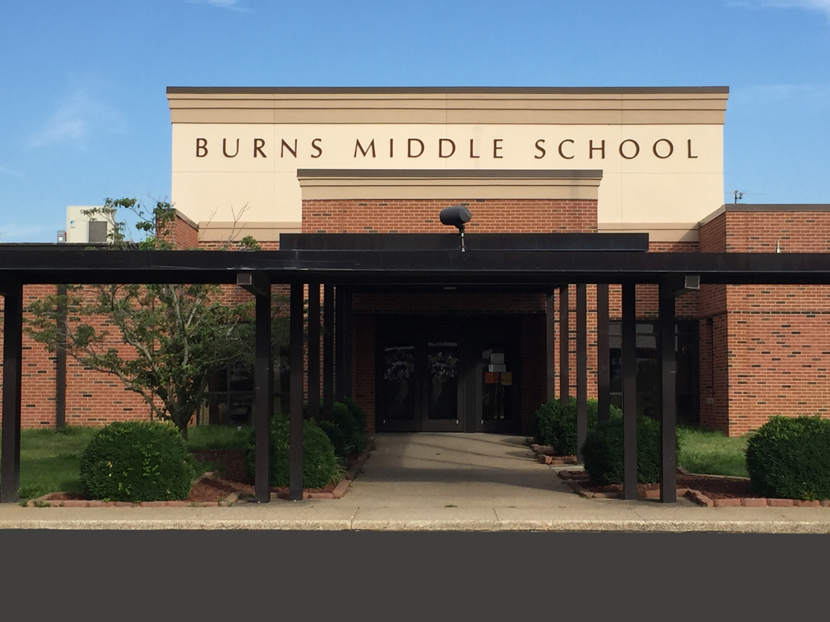 Front of Burns Middle School