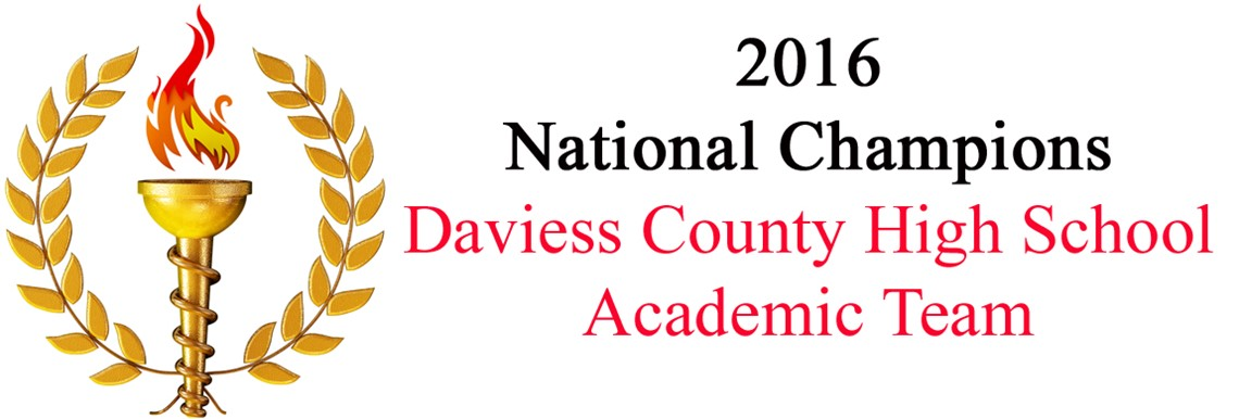 Daviess County High School Academic Team - National Champions!