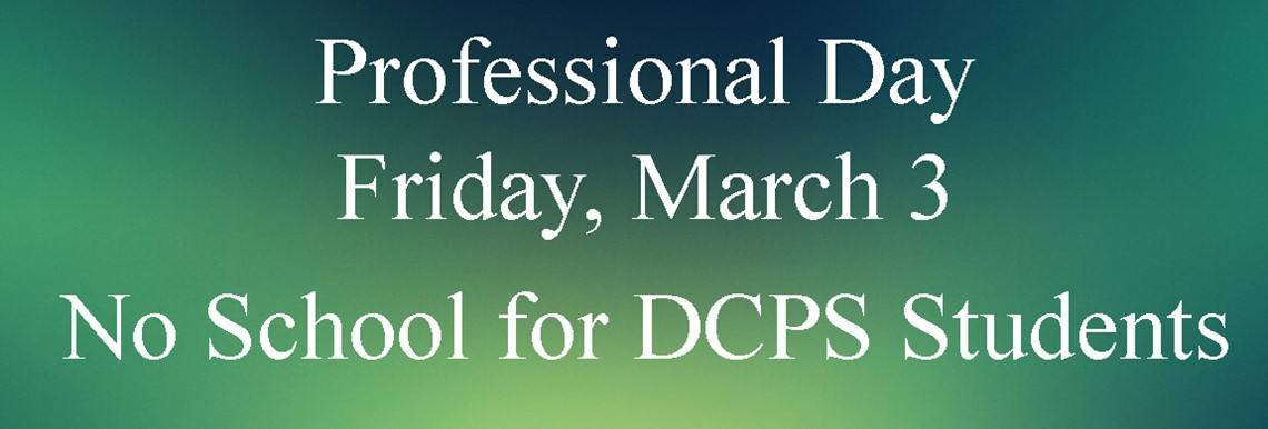 No School for Students on Friday, March 3 - Professional Day