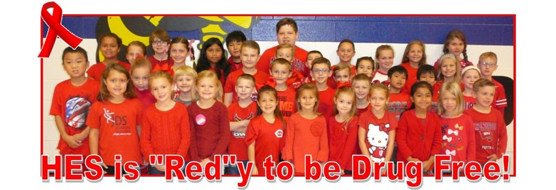 "HES is ""Red""y to be Drug Free!"