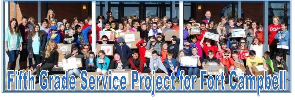 Fifth Grade Service Project for Fort Campbell