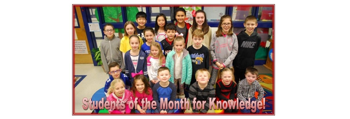 Students of the Month for Knowledge