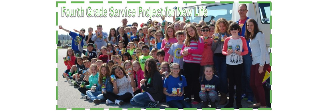 Fourth Grade Service Project - Canned Goods for New Life