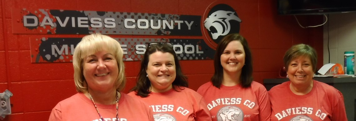 Front office staff on first day of school.