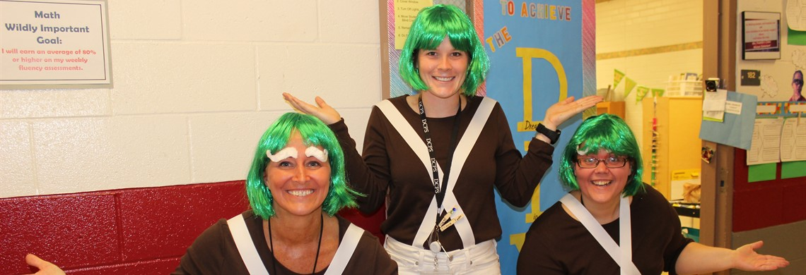 Mrs. Howard, Ms. Elder, Mrs. Franklin Literacy Day