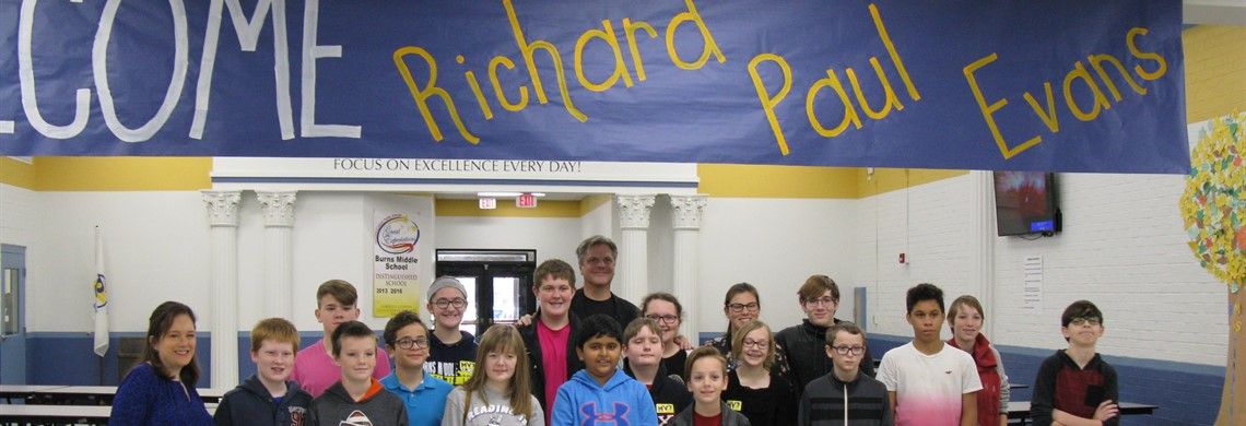 Visiting Author Richard Paul Evans with BMS Library