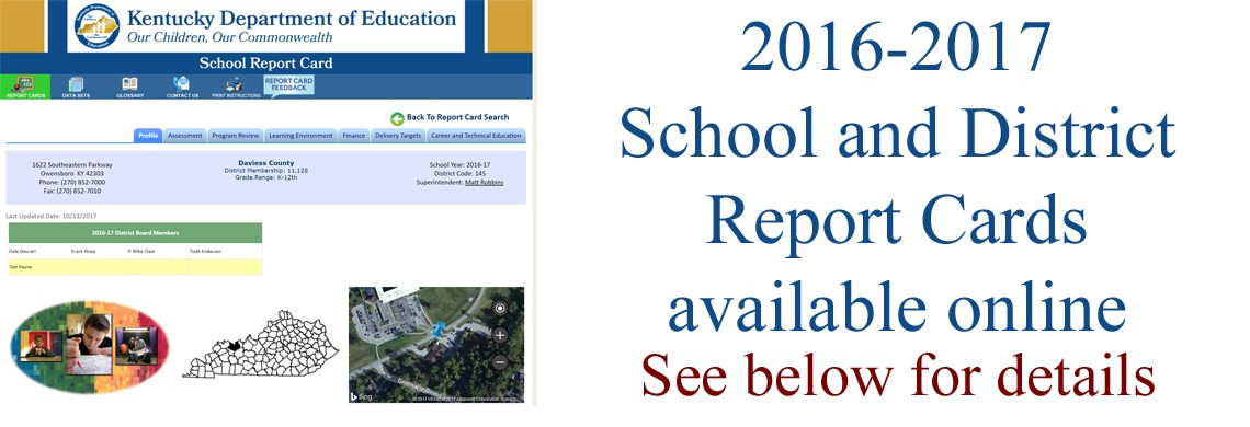 School and District Report Cards now available