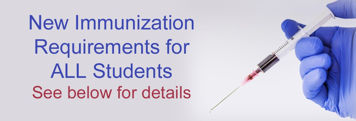 New immunization requirements for ALL students
