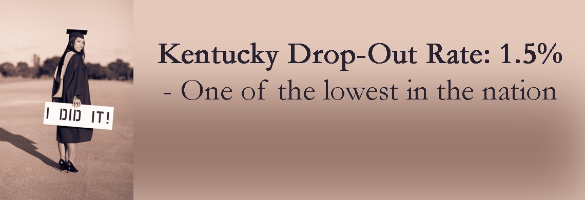 Kentucky Drop-Out Rate is one of the lowest in the nation at 1.5%