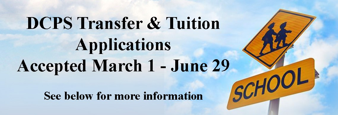 DCPS Transfer & Tuition Applications Accepted March 1-June 29