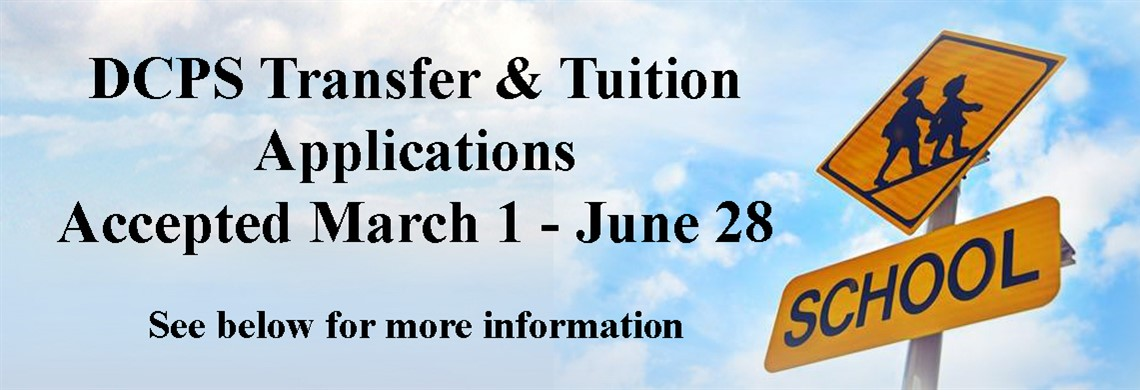 Tuition/Transfer Applications accepted March 1-June 28