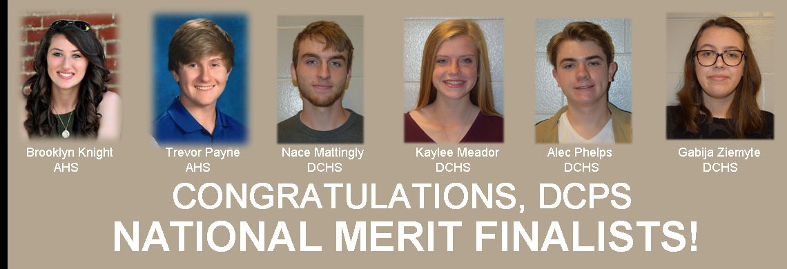 Congratulations DCPS National Merit Finalists