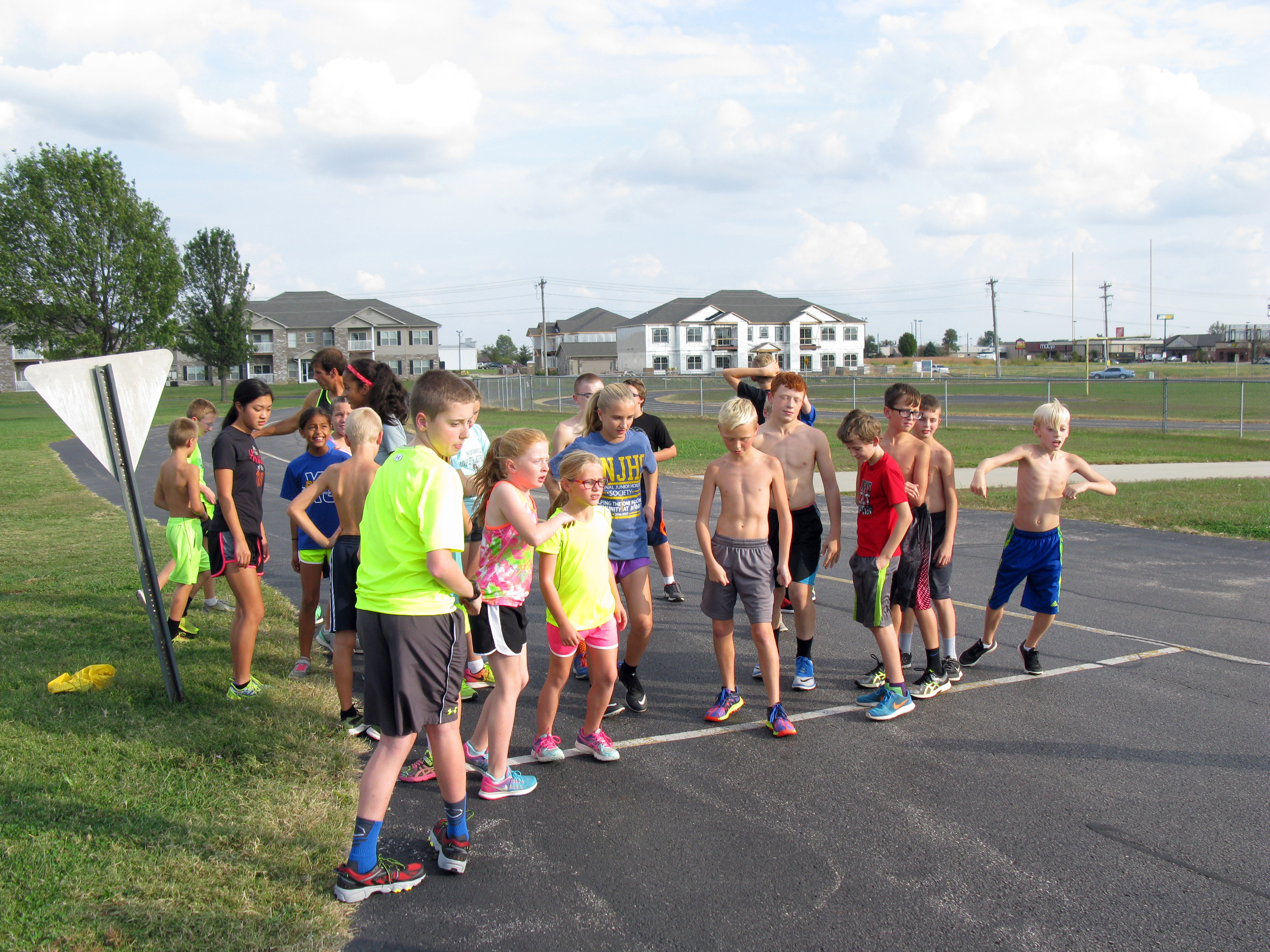 BMS Cross Country Practice August 2016