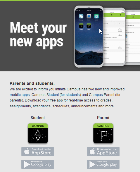 Campus Student and Campus Parent now available! - Country